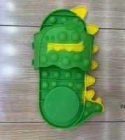 Sensory Toy Kids Shoes Slipper Bubbles DiscomPresione Toys Puser Fidget Fingget Ejercitor Autismo Alivio del estrés HWD10459