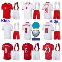 أوروبا كأس كرة القدم الاطفال ميليك الشباب Lewandowski جوارب الجوارب المنتخب الوطني Glik Bednarek Klich Krychowiak Zielinski Rybus Bereszynski Jozwiak Football Kits