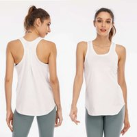 Lulu women's sports vest with pleated quick drying stretch Top Running Yoga suit