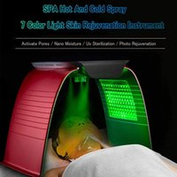 Portable PDT LED Light Therapy Skin Rejuvenation Photodynamic Treatment Lamp 7 Colors Photon Facial Beauty Salon Spa Machine