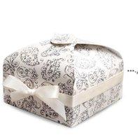 تغليف هدية التفاف صناديق التعبئة ورقة كب كيك مربع الأزياء كوكي البسكويت الحلوى حالة المطبخ خبز حزب اللوازم 3 ألوان HHE8854
