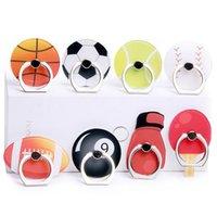50 шт. Универсальная 360 градусов Футбол Баскетбол Палец Кольцо Держатель Стенд Кронштейн Теннисный мяч Телефон Стенды для Samsung Huawei Мобильные телефоны
