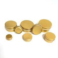 30PCS Gold Screw Thread Empty Aluminum Cream Jar Tin Cosmetic Lip Balm Container Nail Decor Crafts Pot Refillable Bottles 5g-60g