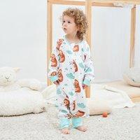 Pajamas Kangobaby Sloth Pattern Bamboo Cotton Comfortable Breathable Baby Sleeping Bag Cool Sweat-absorbent One-piece