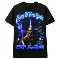 Fumaça Pop Moda Preto Tee Hip Hop Streetwear Masculino T-shirt Homens Rapper Conheça o rei Woo de Casual