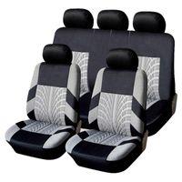 Embroidery Car Seat Covers For Lada Vesta Kalina Granta Universal Protector Full Set Cover