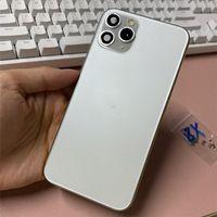 2021 Handygehäuse Blaue Goldrückdeckung für iPhone x xs mas wie 11 Pro 11Pro Max Aluminium Metall Batterietür Ersatz Epacket