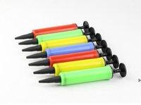 أدوات اليد بالون مضخة مصغرة البلاستيك عقد الكرة حزب بالونات نافخة الهواء ضخ المحمولة أداة مفيدة DHE6480