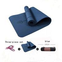Yoga Mats 1830*800*6mm TPE Mat With Position Line Non Slip Carpet Mat, For Beginner Environmental Fitness Gymnastics