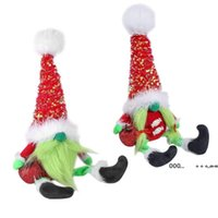 Grinch Christmas Plush Toy Animals faceless doll standing pose dolls home shopping mall window decoration Ornaments FWB10366