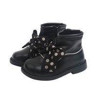 Girls Boots Kids Shoes Childrens Footwear Autumn Winter Baby Short Boot Princess Moccasins Soft Dots Bows Socks Shoe B8452