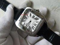 Topselling Bandas de correa de cuero de alta calidad Relojes de pulsera 42mm Asia Movimiento Automático Dial blanco Reloj Relojes para hombre