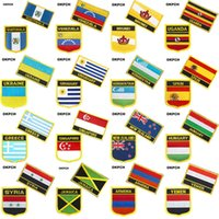 과테말라 베네수엘라 브루나이 우간다 우크라이나 국기 의류에 대한 패치에 수 놓은 철분 금속 배지 DIY 패치 톱