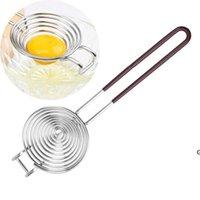 Separatore d'uovo in acciaio inossidabile Yolk Divisore divisorio uova bianche Strumento di separazione Bianco Gadget e accessori HWWE6317