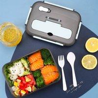 1100ml 1500ml Portable Steamed Plastic Enfants Boîtes à lunch Réfrigérateur
