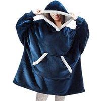 Decken Fleece Wearable Decke mit Ärmeln Winter Weiche Plüsch Sherpa Hoodie Erwachsene Warm Dick Gewichtete Sofa TV Mit Kapuze