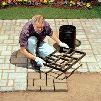 정원 포장 금형 DIY 경로 수동으로 포장 시멘트 벽돌 도구 스테핑 돌 블록 포장 건물 경로 메이커 곰팡이