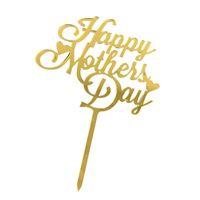 Glückliche Muttertagstorte Topper Party Supplies Acryl Rose Gold Dekoration GWD6110