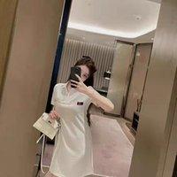여성 패션 드레스 폴로스 편지 자수가있는 폴로스 짧은 소매 슬림 드레스 클래식 긴 티셔츠 솜털 스커트
