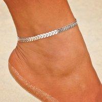 Bohemian Altın Renk Ok Halhal Bacak Bilezik Kadınlar Için Vintage Yoga Beach Halhal Yaz Stil Sandalet Gelinler Ayakkabı Yalınayak