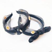 Lace Chrysanthemum Flower Bow Knot Headbands For Women Hair Accessories Korea Headband Girls Hairbands Head Wrap1