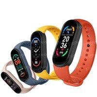 M6 Smart pulseira relógio fitness rastreador real frequência de coração monitor de pressão arterial tela de cor ip67 impermeável para esporte ao ar livre e interior