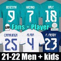 REAL MADRID camisas 21 22 camisa de futebol ALABA BENZEMA CAMAVINGA HAZARD VINICIUS 2021 2022 camiseta camisa de futebol uniformes homens + crianças kit
