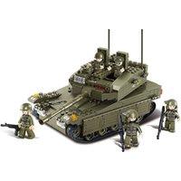 SEMBO BOLD 1061PCS WW2 Военная Военная Военная Танка Автомобили Военные Солдатские Строительные Блоки Военная Команда Вторая мировая война 2