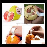 Gadget da cucina vegetale frutta Gadget aperti Aprire la famiglia Portatile Portable Durevole Plastica Strumenti di taglio Parer Finger Orange Peel dispositivo 50j7d ymwe4