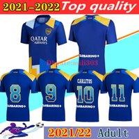 2021 2022 Boca Juniors Fussball Trikots Drittes Training Hemd 21 22 Maradona Tevez Gago Osvaldo Carlitos Pavon Salvio Perez de Rossi Männer Fussball Hemden