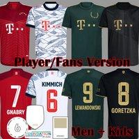 2021 Davies Bayern Sınırlı Wiesn Kupa Oyuncu Sürüm Futbol Formaları Sane Lewandowski Kimmich Muiala Munchen Muller Gnabry Münih Futbol Gömlek 21 22 Erkek Çocuk Seti