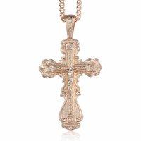 DavieSlee Kreuz Halskette für Frauen Männer CZ Crucifix 585 Rose Gold Anhänger Herren Frau Schmuck Drop Geschenke DGP172