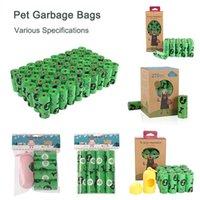 Dog Car Seat Covers 18Rolls Pet Garbage Bags EPI Biodegradable Cat Poop Waste Bag Dispenser Set Outdoor Portable Cleaning Poo Pick-Up Trash