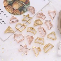 1pcs Effen Color Retro Women Claw Crab Moon Shape Clips Girls Make Up Her Accessories Big mini Size Hair Pins
