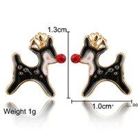 Santa Claus Christmas Earrings Snowman Deer Bell Christmas Tree Ear Jewelry Accessories Lovely Xmas Gifts for Women Girls EWD10276