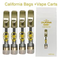 California Honey 510 Cartridge Packaging Atomizers Empty Vapes Pen Cartridges E-Cigarettes Vaping Carts 0.8ML 1ML Glass Thick Oil Vaporizer Pens Copper Tip