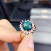 Cluster Rings MeiBaPJ Natural Black Opal Gemstone Fashion For Women Real 925 Sterling Silver Charm Fine Wedding Jewelry