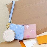 Mujeres Lujos Diseñadores Bolsos 2021 Bolso de alta calidad Monedero Monedero Caja de la llave 3 en 1 Impresión L Bag Genuine Leather Messenger Ladies Travel