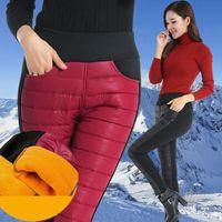 Women's Leggings Plus Velvet Pants Women Winter Warm Large Size High Waist Thicken Leggins Casual Soft