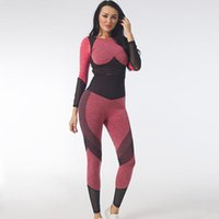 Women's Two Piece Pants Yoga Suit Female Spring And Autumn Knitting Buttock Elastic Fitness Sets