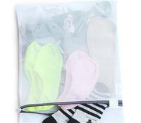40 teile / los Große mittlere Reißverschluss Faltbare Nylon Wäscherei Bag BH Socken Unterwäsche Kleidung Waschmaschine Schutz Netto Mesh Bags 717 V2
