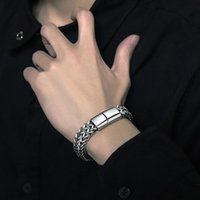 Charm Bracelets Stainless Steel Braided Bracelet Bangle Cuban Chain Men Hip Hop Party Rock Wrist Jewelry Gift