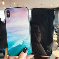 Nuvole di inchiostro o colorato oceani Custodie per telefoni cellulari in vetro per iPhone 12 11 PRO PROMAX X XS MAX 7 8 PLUS