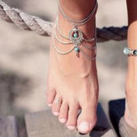 Retro Beads Anklets For Women Barefoot Sandals Pulseras Tobilleras Mujer Bohemia Ankle Bracelet Vintage Foot Beach Jewelry