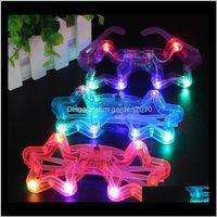 Autres fournitures d'événements Décor Plastique Glow Lunettes à LED Lumières Luminet Jouet Verre Pour Enfants Fête Célébration Néon Montrer Année de Noël IRPCS LTIQB