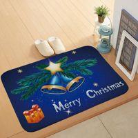 Ковры входные коврики DOOMMAT Различные цвета Рождественский дизайн Небольшая подушка коралловый бархатный материал праздник декоративный