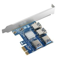 بطاقة توسيع PCIE USB 3.0 من 1 إلى 4 فتحات PCI USB 3.0 محول Adatper PCIE RISER بطاقات Bitcoin Mining PCI بطاقة التمدد