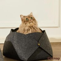 Cat Bed Felt Cat's Nest Non Hair Detachable For Cats Portable Folding Nests Cushion Mat Basket Accessories Beds & Furniture