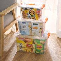 Пластиковая коробка для хранения ясных хранилищ прозрачных пластмассовых пластиков стекируемый контейнер с крышкой домашний поставки организации NHA5139