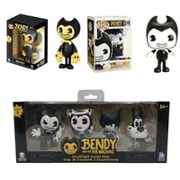 New POP Bendy and The Ink Machine Game Figure Doll Action Figures Kids Collections Bendy PVC Toys Set